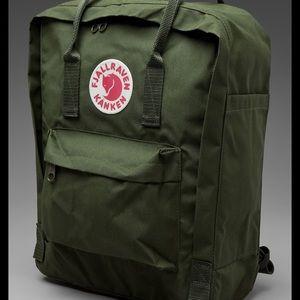fjallraven nankeen dark green backpack